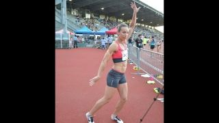 Jessica Zelinka Interview   2014 Harry Jerome Track Classic